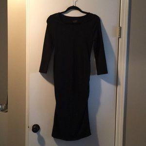 Isabel maternity Xs black midi dress